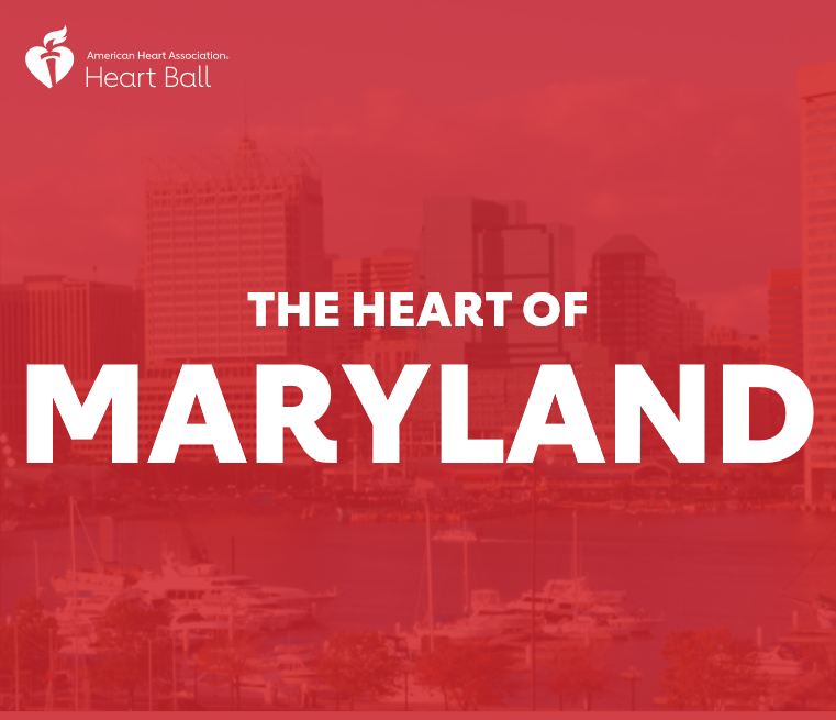The Heart of Maryland skyline graphic